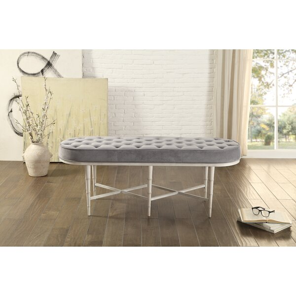 Wrens Upholstered Bench by Highland Dunes