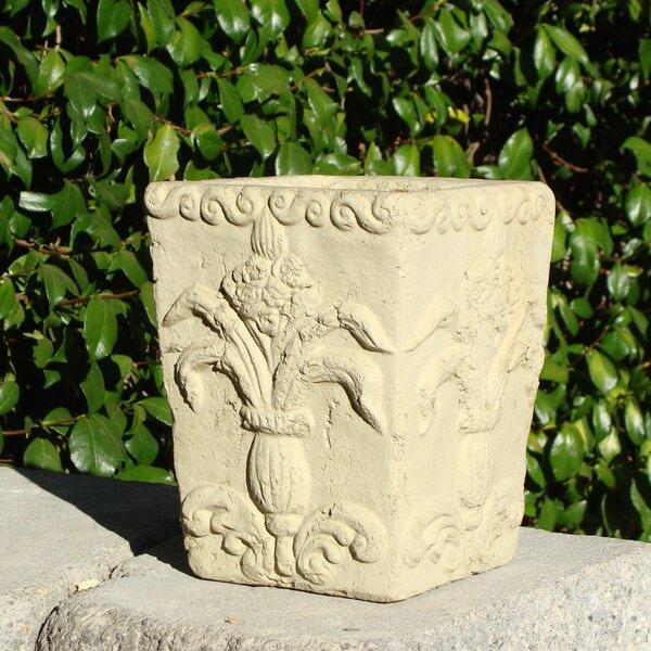 Square Regalia Cast Stone Pot Planter by Designer Stone, Inc