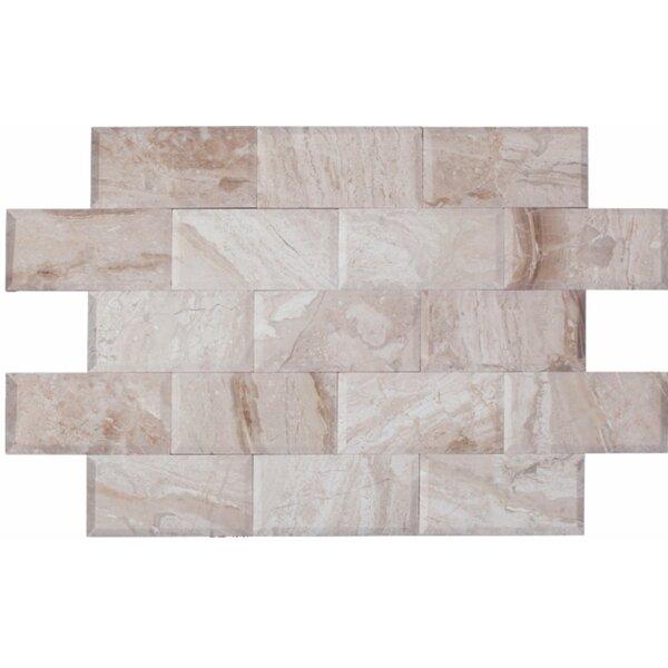 3 x 6 Marble Mosaic Tile in Karya Royal by Ephesus Stones