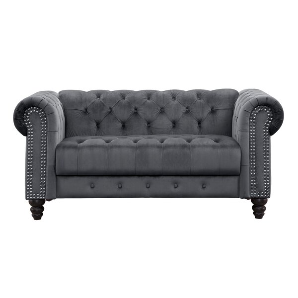 Mohr Chesterfield Loveseat by Rosdorf Park