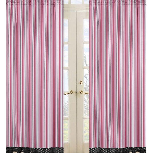 Madison Striped Semi-Sheer Rod Pocket Curtain Panels (Set of 2) by Sweet Jojo Designs