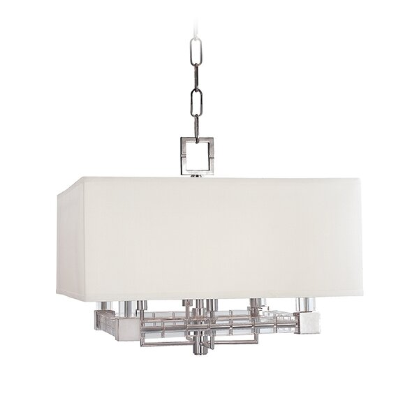 Montauk 4 - Light Unique / Statement Rectangle / Square Chandelier by Everly Quinn Everly Quinn