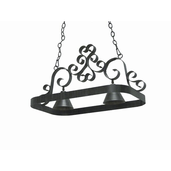 Hayley 2 Light Hanging Pot Rack by 2nd Ave Design