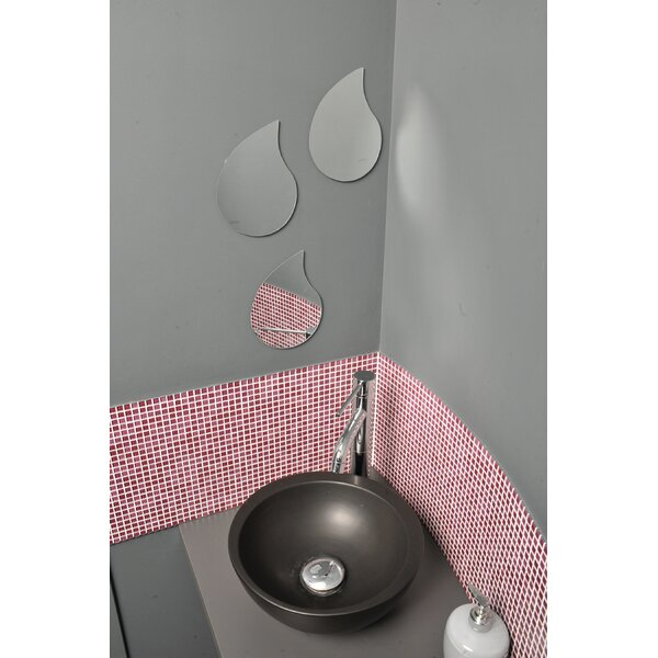 Mirrorfina Adhesive Drop Shape Wall Mirror (Set of 3) by Evideco