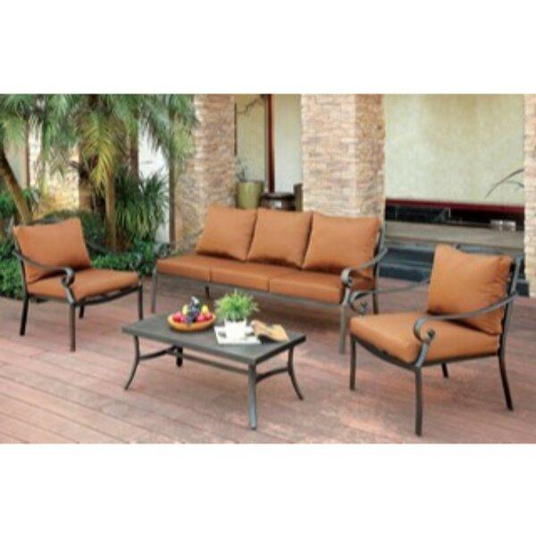 Kalmanovitz 3 Piece Sofa Seating Group with Cushions by Alcott Hill