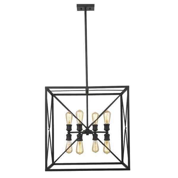 Maly 8 - Light Lantern Square Chandelier By Gracie Oaks