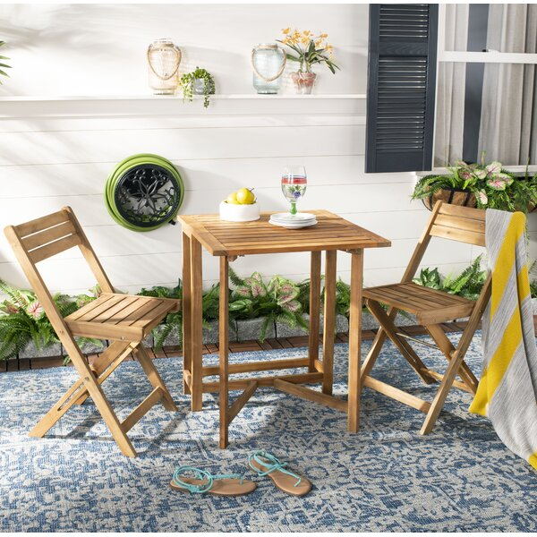 Geremia 3 Piece Bistro Set by Highland Dunes