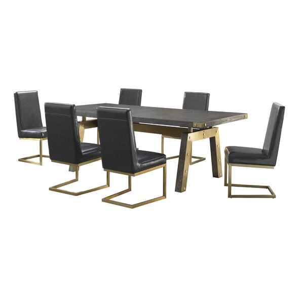 Rockport 7 Piece Dining Set by Everly Quinn