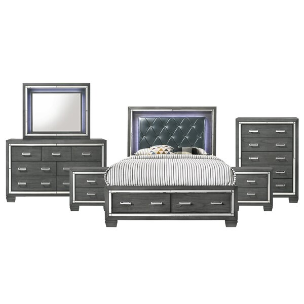 Anthea Platform 6 Piece Bedroom Set by House of Hampton