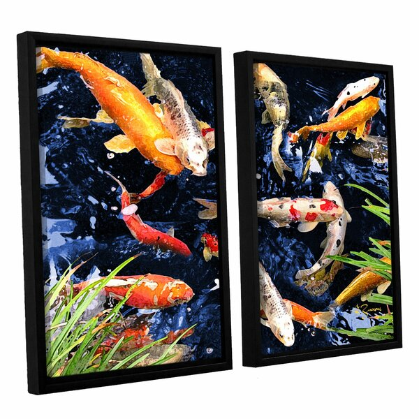 Koi by George Zucconi 2 Piece Framed Photographic Print on Canvas Set by ArtWall