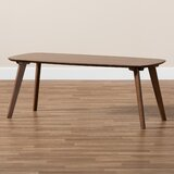 Cutshall Mid-Century Modern Walnut Finished Coffee Table by George Oliver