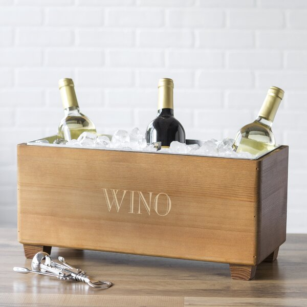 Personalized Wooden Wine Trough by Cathys Concepts