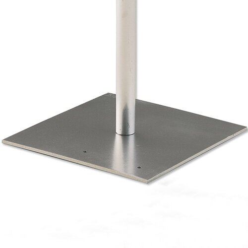 Flat Steel Bases and Stud for Pipe and Drape Runoffs by Draper