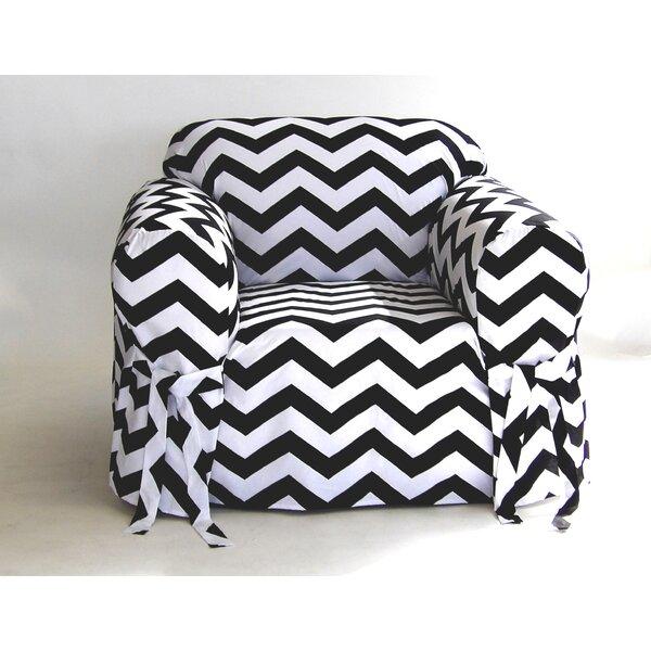 Chevron Box Cushion Armchair Slipcover by Latitude Run