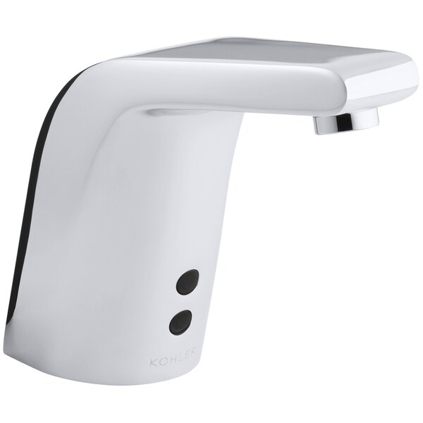 Sculpted Single-Hole Touchless Hybrid Energy Cell-Powered Commercial Bathroom Sink Faucet with Insight Technology and 5-3/4 Spout by Kohler