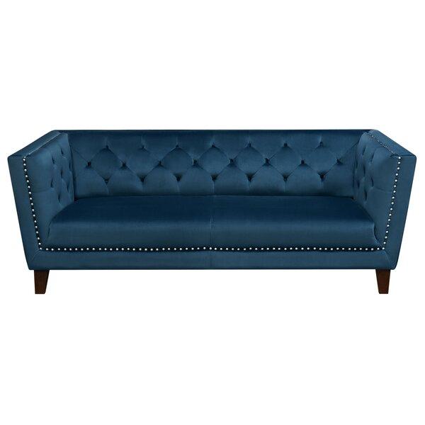 Grand Tufted Back Chesterfield Sofa By Diamond Sofa