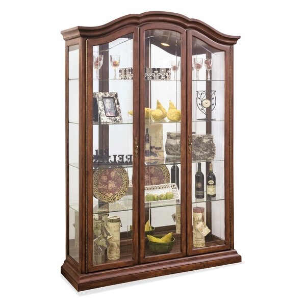 Elrosa Lighted Curio Cabinet by Astoria Grand