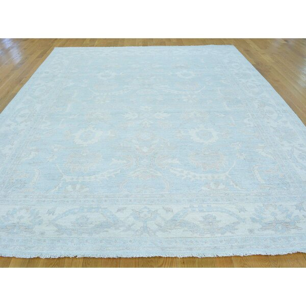 One-of-a-Kind Beaumont Handwoven Blue Wool Area Rug by Isabelline