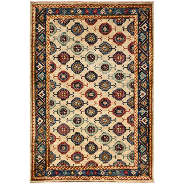 One-of-a-Kind Ziegler Hand-Knotted Beige / Blue Area Rug by Darya Rugs
