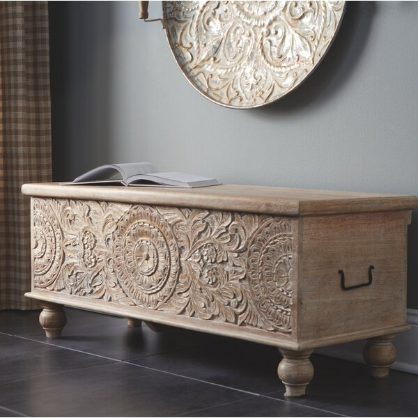 Belle Haven Wood Flip Top Storage Bench By Bungalow Rose