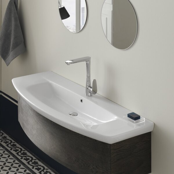 City Ceramic Rectangular Drop-In Bathroom Sink with Overflow by CeraStyle by Nameeks