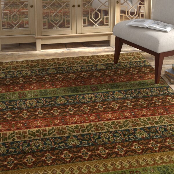 Prince Green/Red Area Rug by Bloomsbury Market