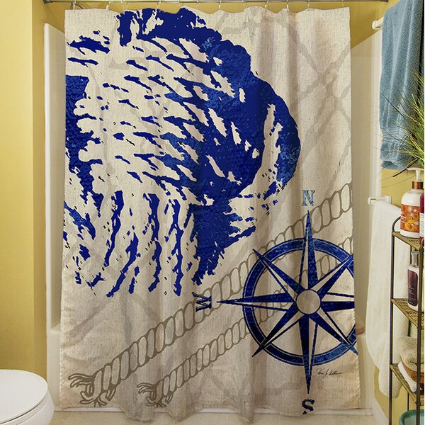 Hawkins Shower Curtain by Longshore Tides