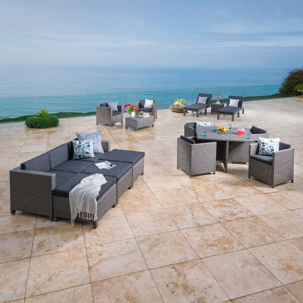Furst 17 Piece Sectional Set with Cushions by Wade Logan