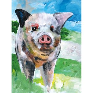 Farm Pig by Sean Parnell Painting Print on Wrapped Canvas by Portfolio Canvas Decor