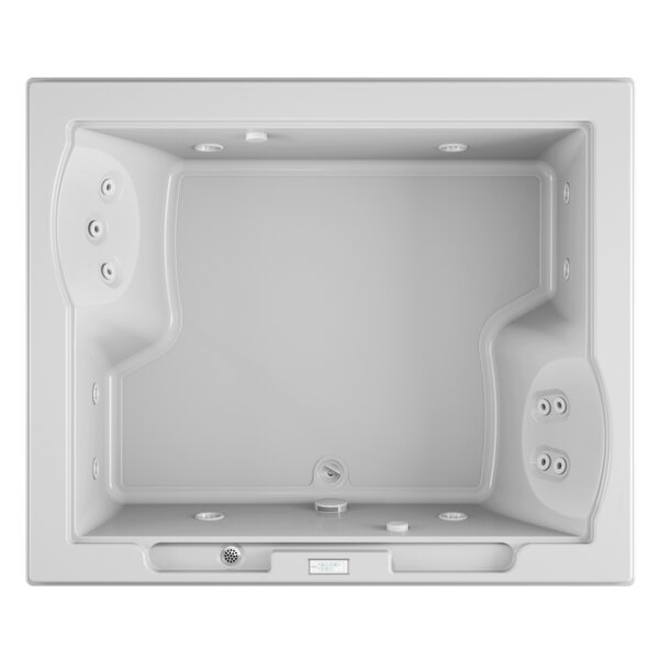 Fuzion Chroma Right-Hand 72 x 60 Drop-In Whirlpool Bathtub by Jacuzzi®
