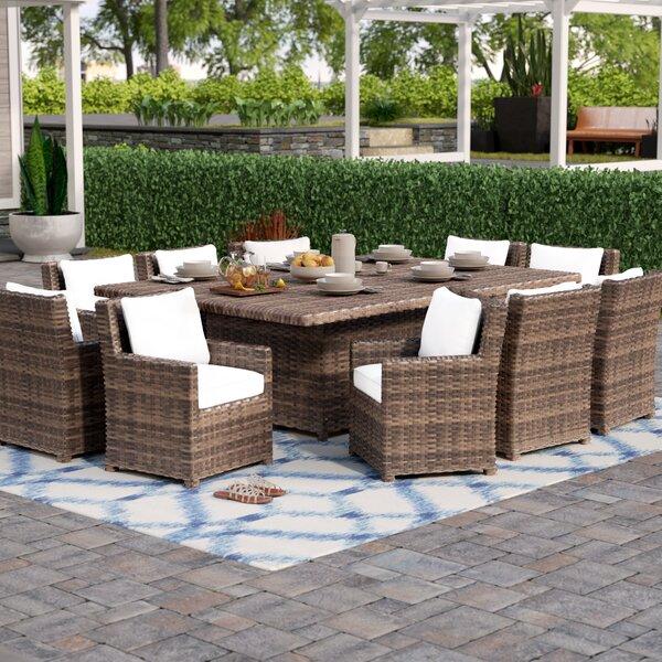 Dutil 11 Piece Sunbrella Dining Set with Cushions by Brayden Studio