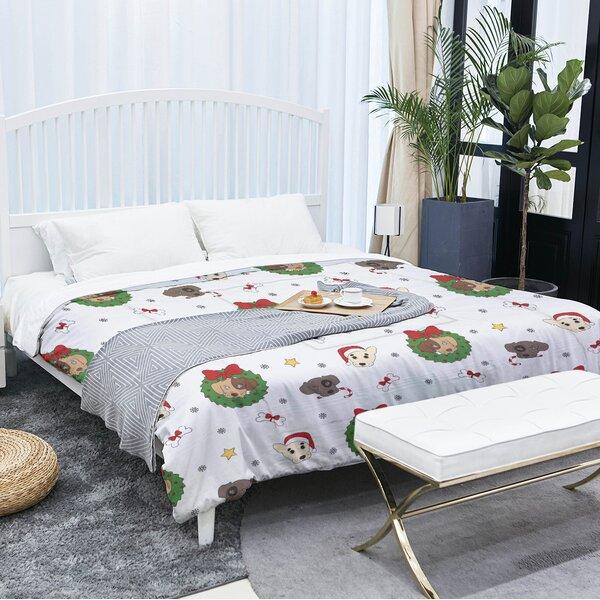 Christmas Dogs Single Comforter