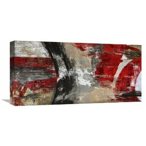'Red Tornado' by Jim Stone Painting Print on Wrapped Canvas by Global Gallery