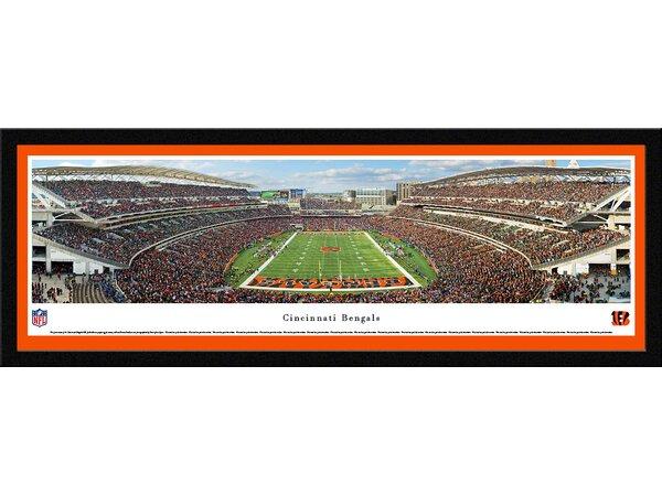 NFL Cincinnati Bengals - End Zone by Chris Gjevre Framed Photographic Print by Blakeway Worldwide Panoramas, Inc