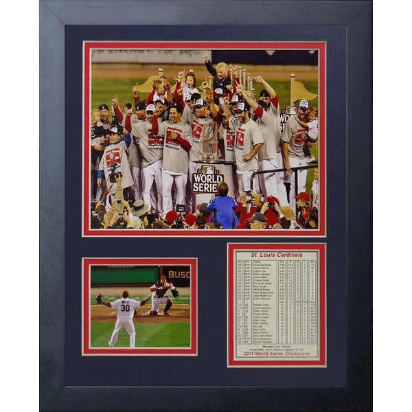 2011 St. Louis Cardinals Podium Framed Photographic Print by Legends Never Die