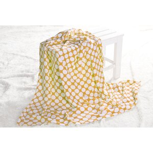 Ikat Dots Plush Throw Blanket