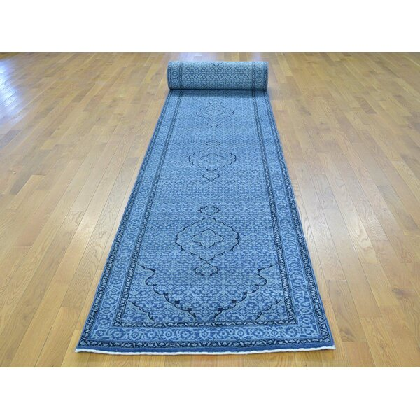 One-of-a-Kind Beaton Handwoven Blue Wool/Silk Area Rug by Isabelline