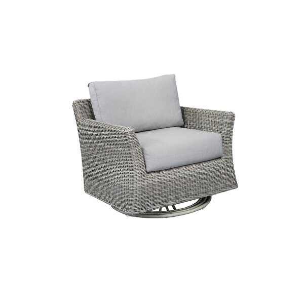 Norman Club Rocker Swivel Patio Chair with Cushions by Bayou Breeze