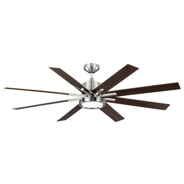 60 Woodlynne 8 Blade Outdoor Ceiling Fan with Remote by Wade Logan