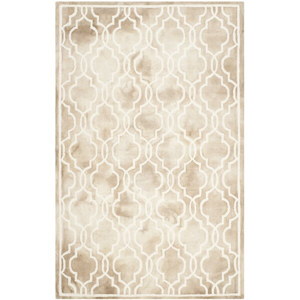 Hand-Tufted Beige/Ivory Area Rug by House of Hampton