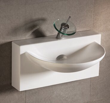 Isabella Ceramic 28 Wall Mount Bathroom Sink by Whitehaus Collection