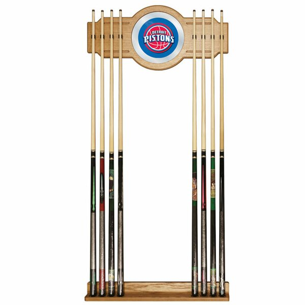 NBA Billiard Cue Rack with Mirror by Trademark Glo