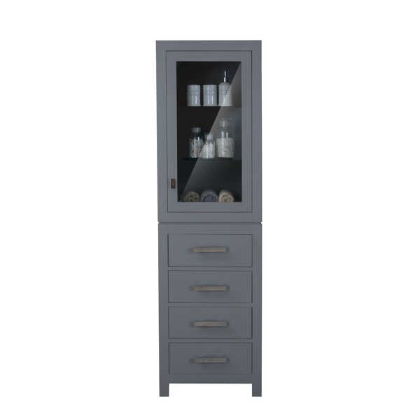 Crisler 21 W x 72 H Linen Tower by Rosecliff Heights