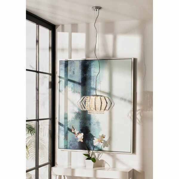 Kaleigh 5 - Light Shaded Geometric Chandelier With Crystal Accents By House Of Hampton