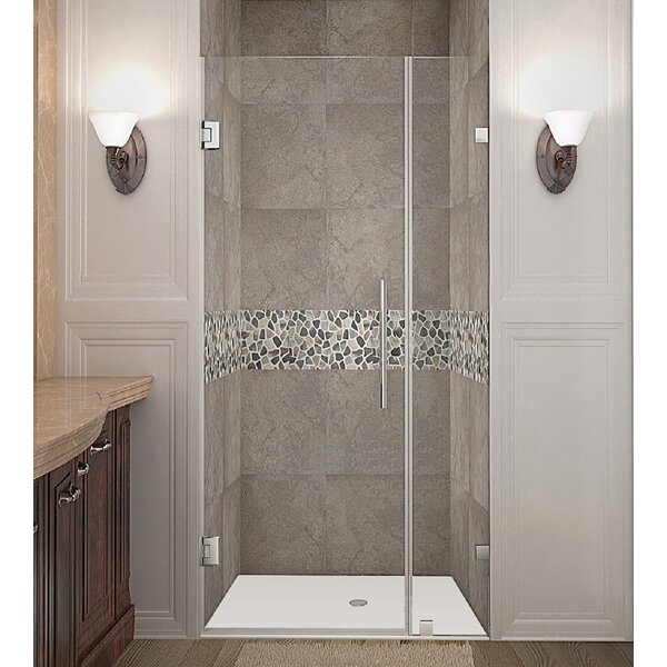 Nautis 30 x 72 Hinged Completely Frameless Shower Door by Aston