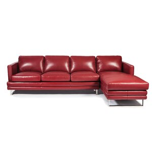 Melbourne Sectional by Lazzaro Leather