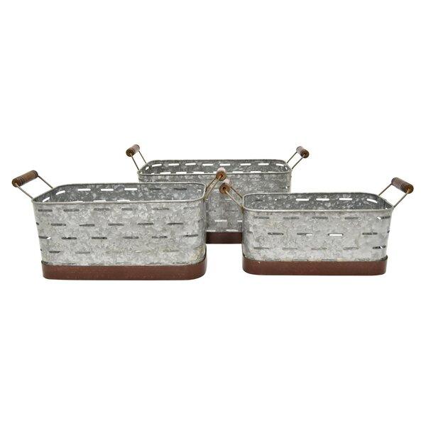 Flavia 3-Piece Metal Planter Box Set by Gracie Oaks