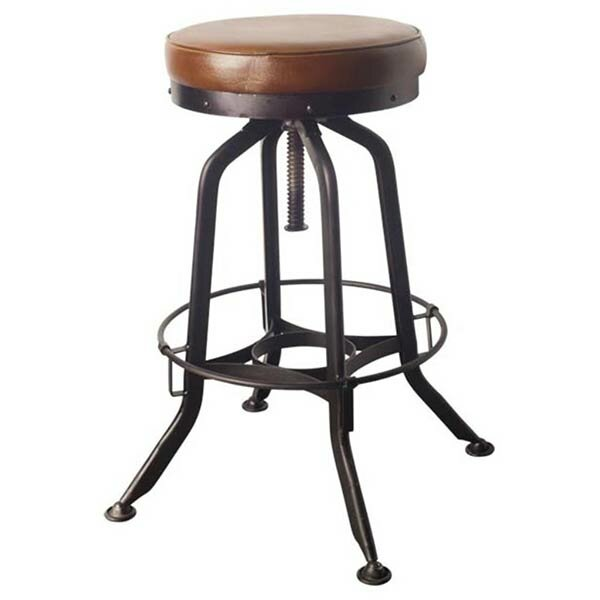 Salazar 28 Swivel Bar Stool by 17 Stories