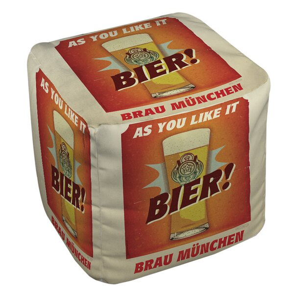Bier Brau Munchen Pouf by Manual Woodworkers & Weavers