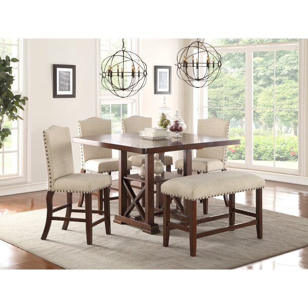Stevens 6 Piece Pub Table Set by Canora Grey